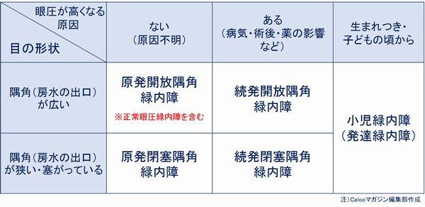 緑内障の分類